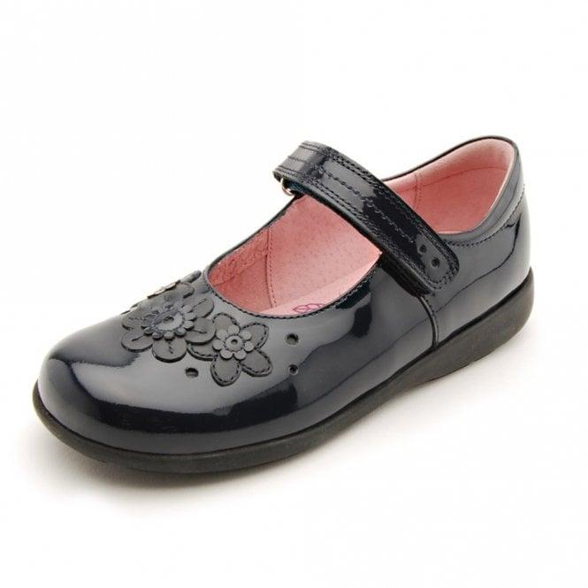 Start-rite Fleur Navy Patent Girl's Shoe