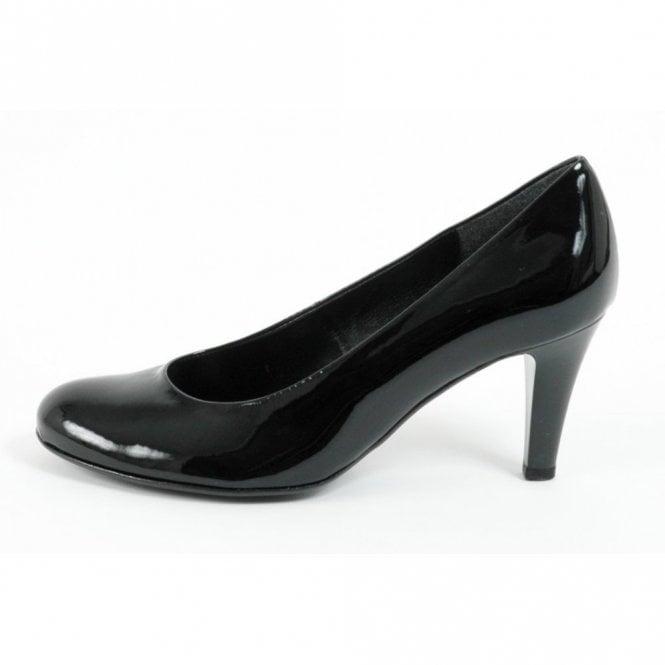 Gabor Lavender 55.210.77 Black Patent Court Shoe