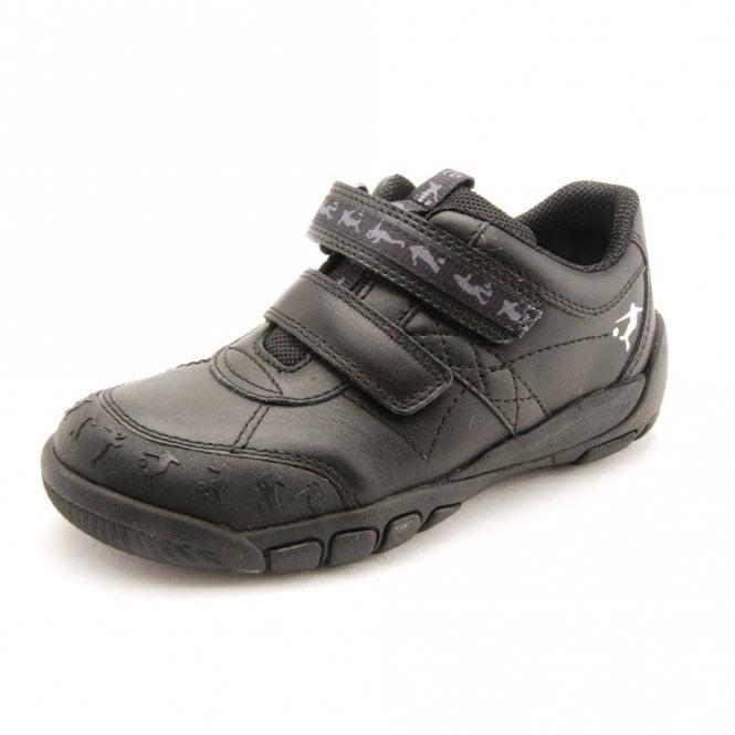Start-rite Hat-Trick Black Leather Boys Shoe