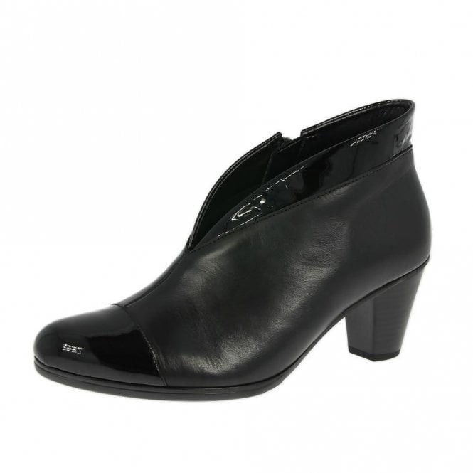 Gabor Enfield 95.616.97 Black Patent / leather Ankle Boot