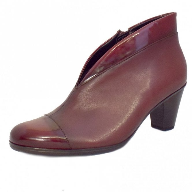 Gabor Enfield 75.616.95 Dark Red Patent / Leather Ankle Boot