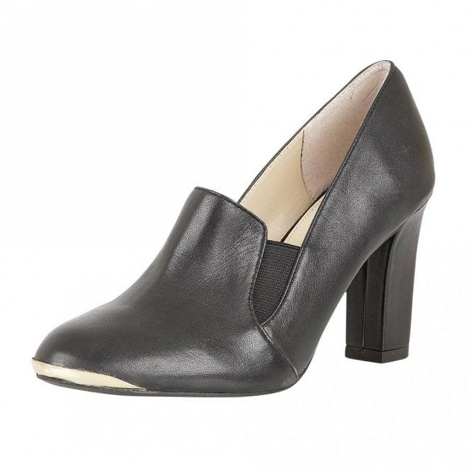 Lotus Crew Black Leather Trouser Shoe