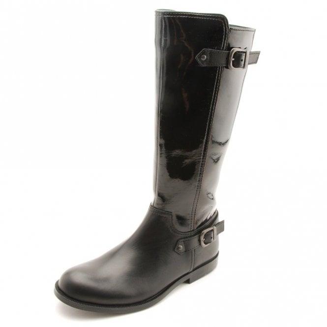 Start-rite Gallop Black Patent / Leather Girls Boot