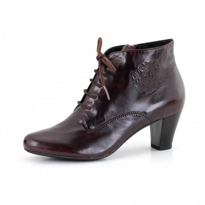 Gerry Weber Kate 12 Wine Leather Ankle Boot