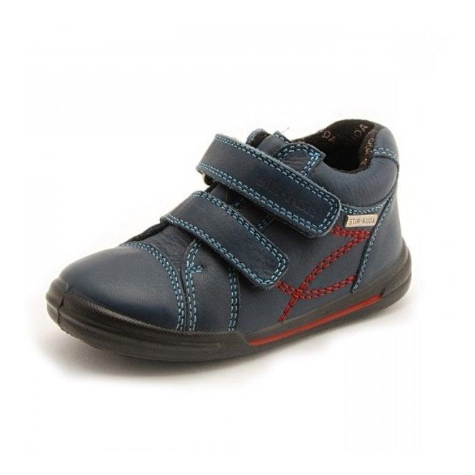 Start-rite Aqua Flexy Soft Navy Blue Leather Waterproof Velcro Boys Boot