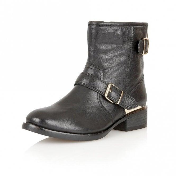 Lotus Fabiola Black Leather Ankle Boots