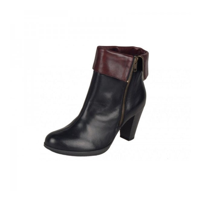 Remonte Dorndorf D0970-01 Black Leather Ankle Boot