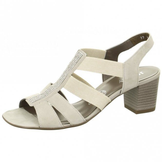 Jenny 54679-06 Light Grey Sandal with Diamonte Trim