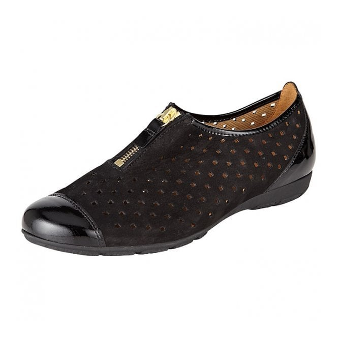 Gabor Gibson 84.164.37 Black Patent Nubuck Shoe