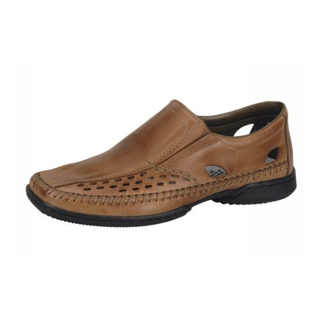 Rieker Deserto 07966-23 Brown Leather Slip On Shoe