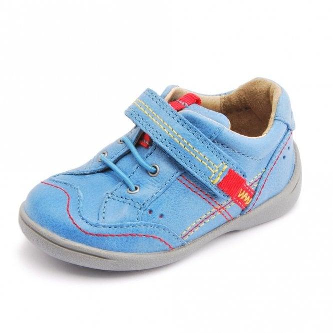 Start-rite SR Super Soft Sam Bright Blue Leather Boys Shoe