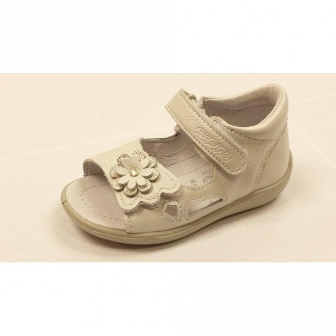 Ricosta Kacy 3121200-810 White Leather Girl's Sandal