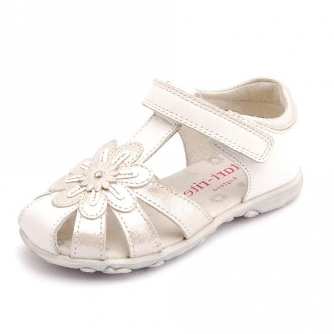 Start-rite Primrose White / Silver Leather Girl's Sandal