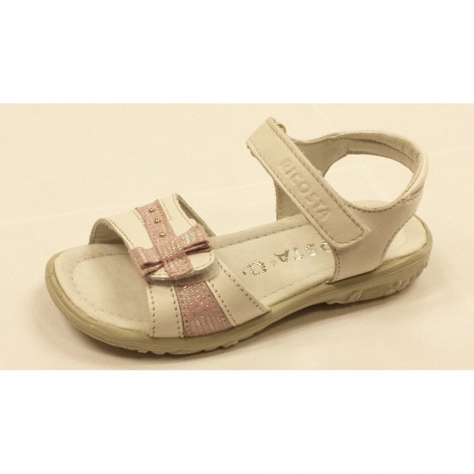 Ricosta Marie 6425800-326 White Leather Girl's Sandal