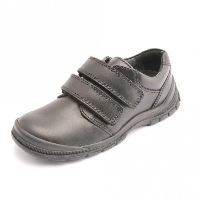 Start-rite Engineer Black Leather Velcro Boys Shoe