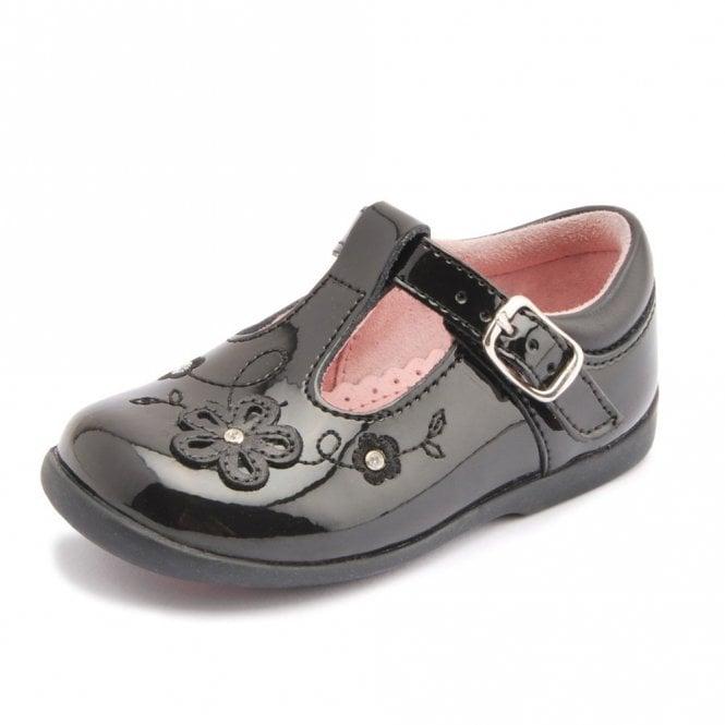 Start-rite Sunflower Girl's Black Patent First Walking Shoe