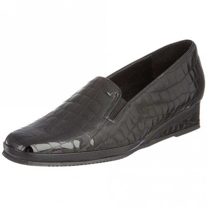 Van Dal Rochester II Black Patent Wedge Shoe