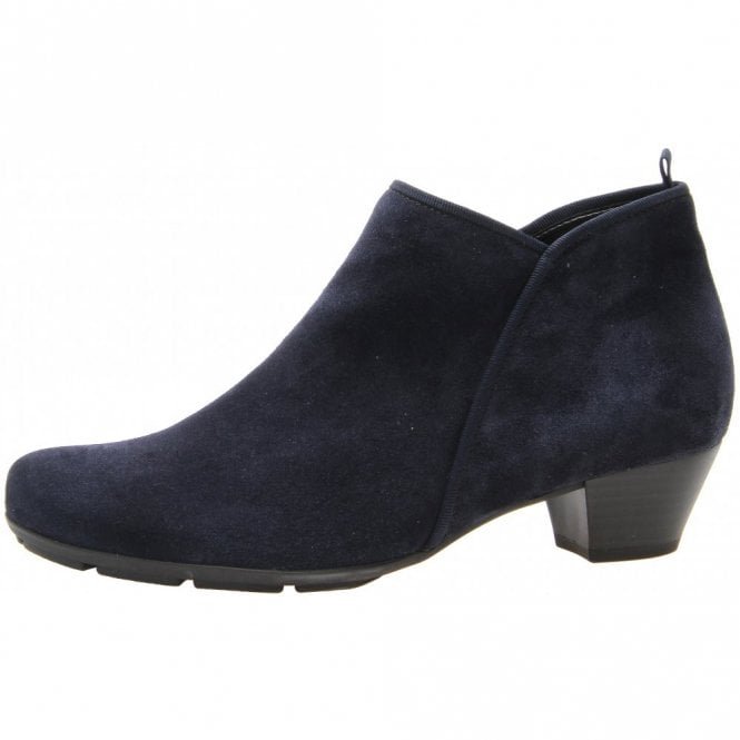 Gabor Trudy 75.633.16 Navy Suede Ankle Boot
