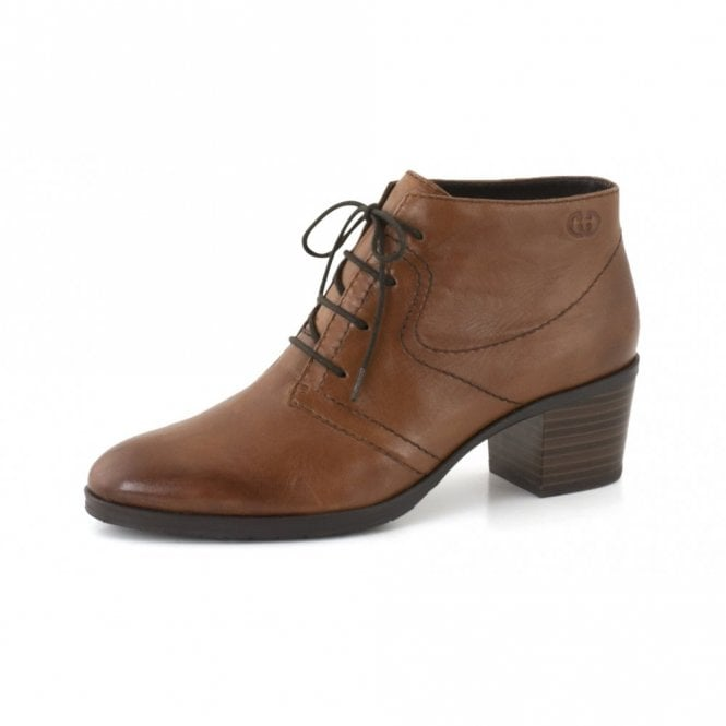 Gerry Weber Casey 02 Brown Leather Ankle Boot