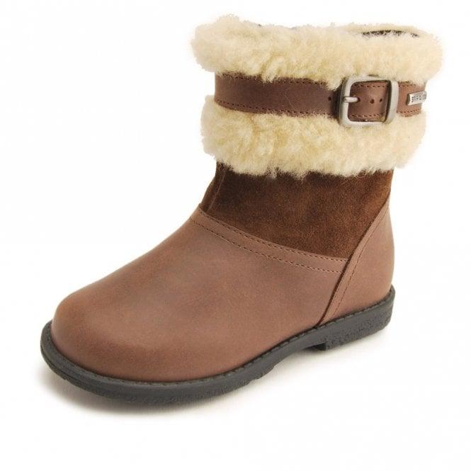 Start-rite Aqua Arctic Brown Leather Waterproof Girls Boot