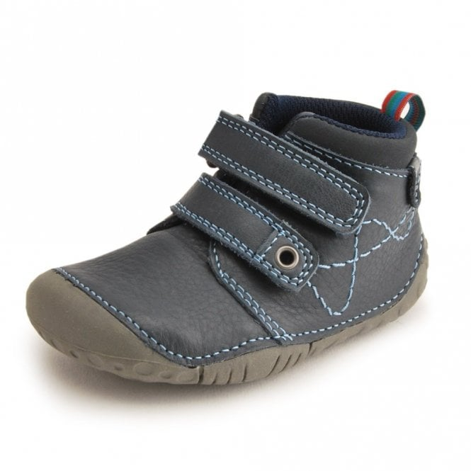 Start-rite Noah Navy Leather Boys First Shoe