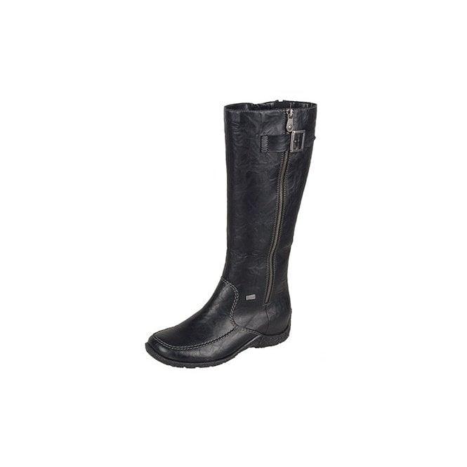 Rieker 79990-00 Black Leather Warm Lined Waterproof Boot