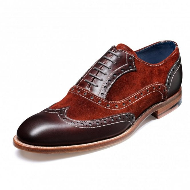 Barker Grant Walnut / Creole Moonrock Leather Lace Up Brogue Shoe