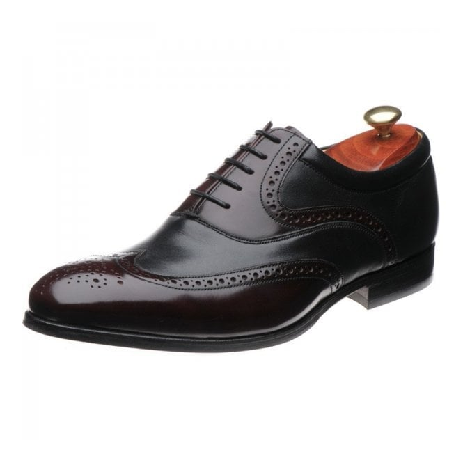 Barker Bakewell Burgundy Hi-Shine / Black Nappa Leather Lace up Shoe