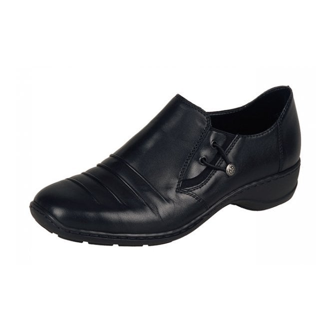 Rieker 58353-00 Black Leather Shoe