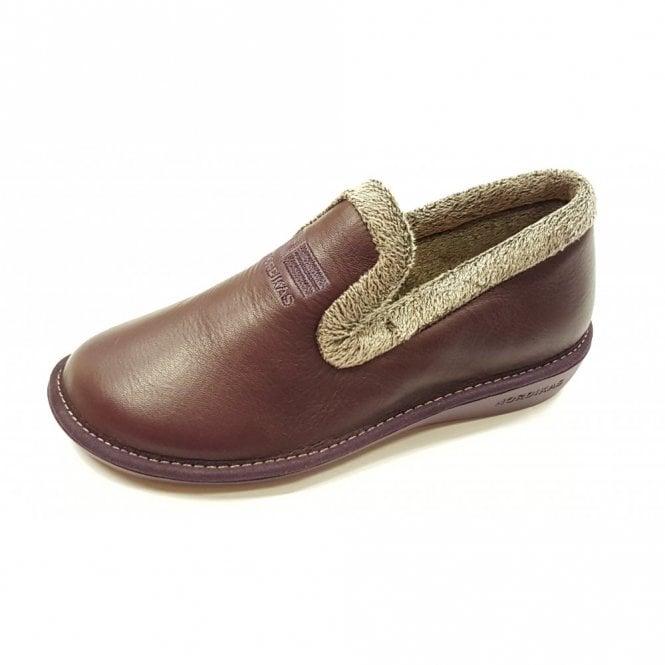 Nordikas 305 Ohio Burgundy Leather Ladies Slipper