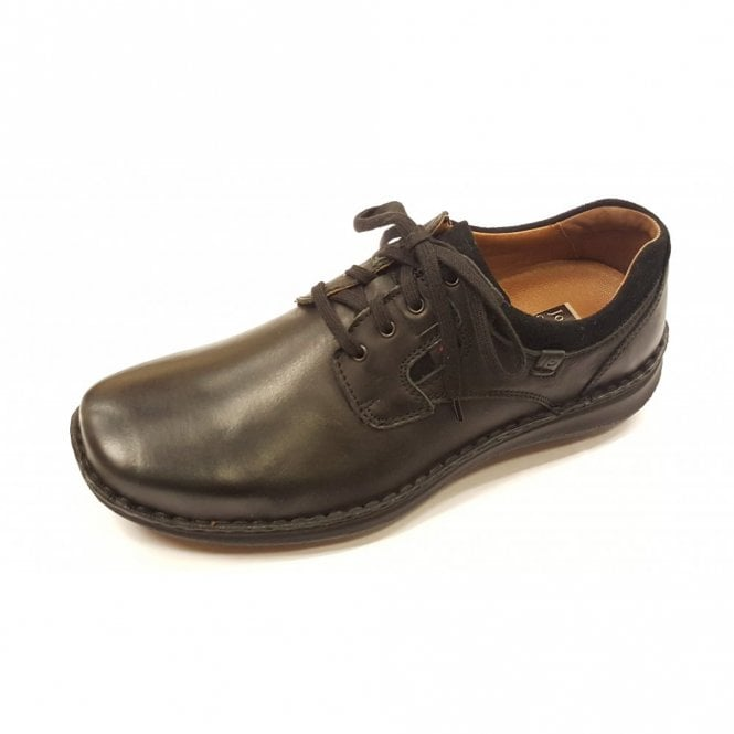 Josef Seibel Anvers 36 Black Leather Lace Shoe