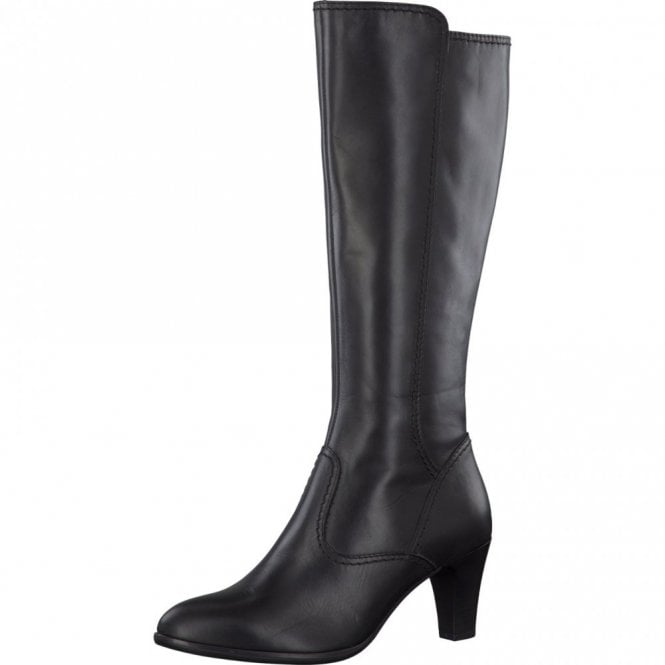 Tamaris 25561-25 Black Leather Long Legged Boot