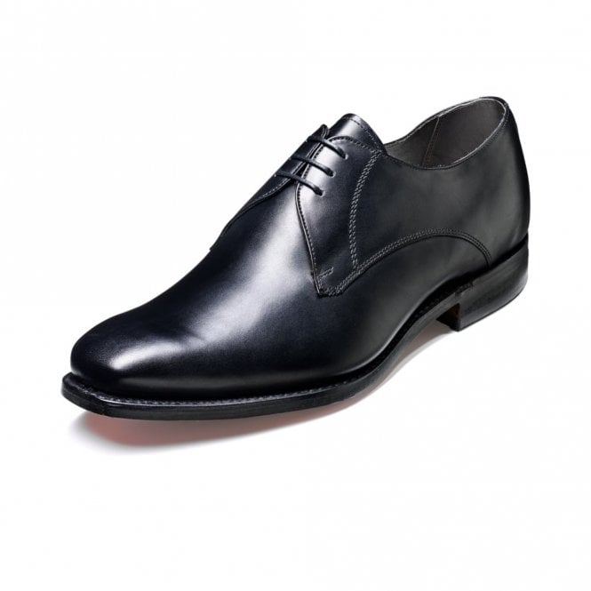 Barker Eton Black Calf Leather Lace Up Derby Shoe