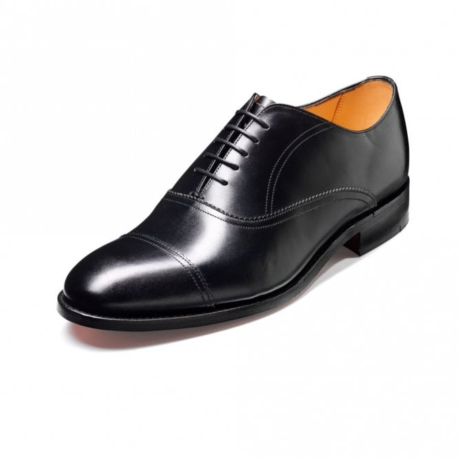 Barker Nevis Black Calf Leather Lace Up Oxford Shoe
