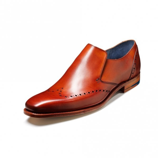 Bourne Rosewood Calf Leather Slip On Shoe