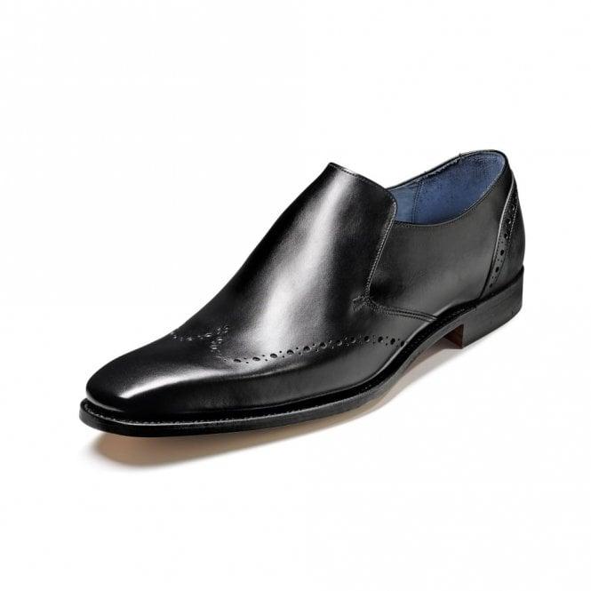 Barker Bourne Black Calf Leather Slip On Shoe