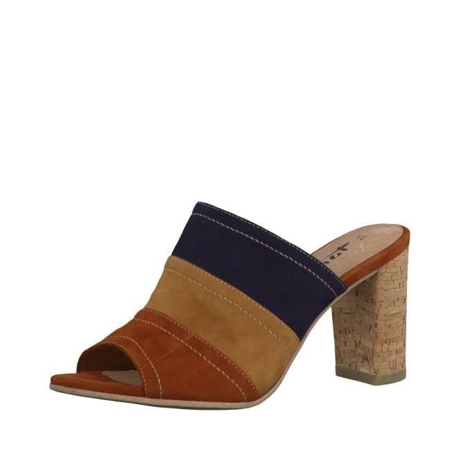 Tamaris 27203-26 Tan Multi Suede Leather Sandal
