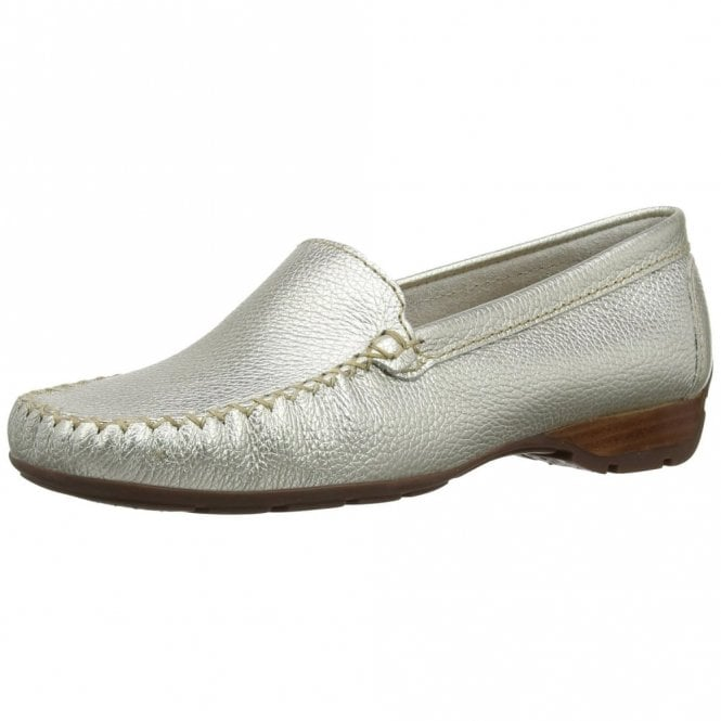 Van Dal Sanson Metallic Leather Loafer Moccasin Shoe