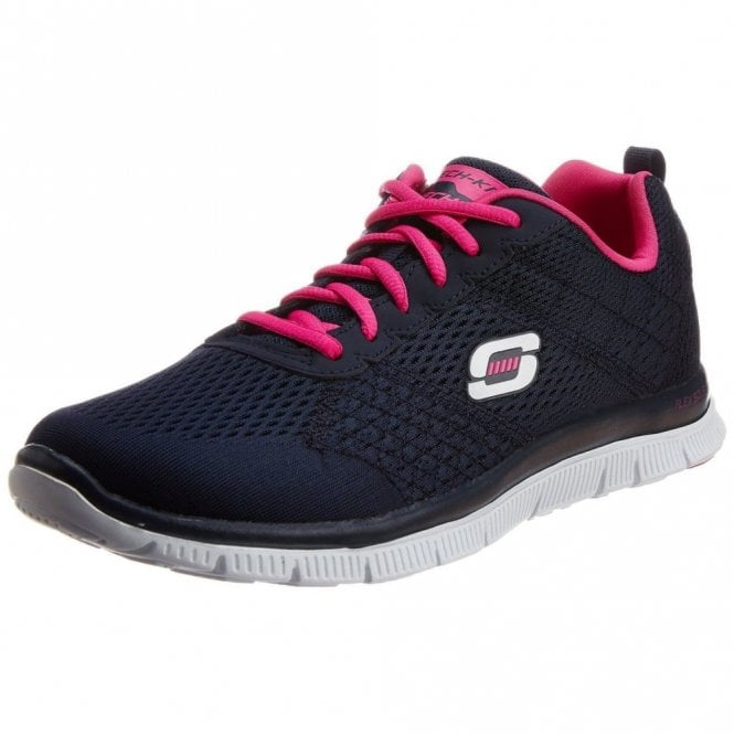 Skechers Flex Appeal - Obvious Choice Training Shoes Navy Fabric