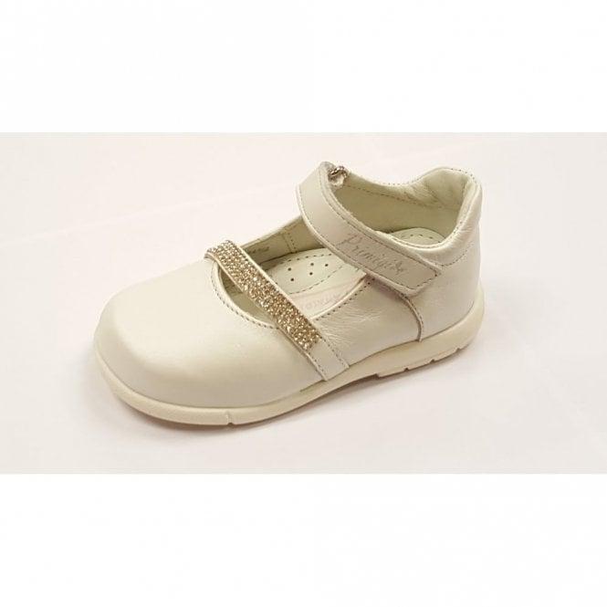 Primigi Dulce White Leather Girl's Velcro Shoe