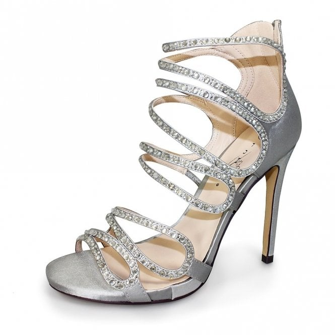 Lunar Courtney FLR349 Silver Sandal with Diamontes