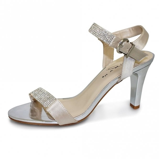 Lunar Petra JLH772 Gold Sandal with Diamontes