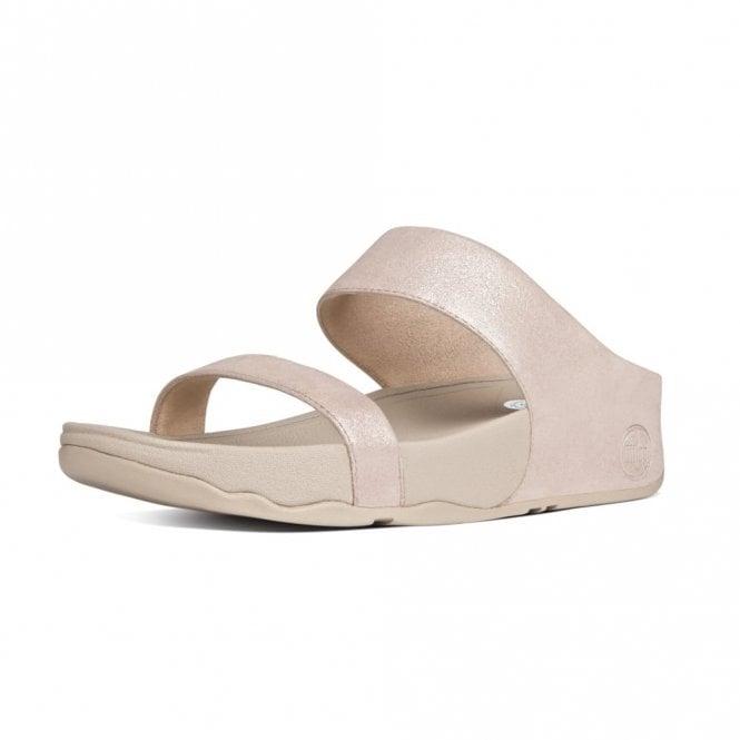 FitFlop Lulu Shimmersuede Slide Nude Sandal