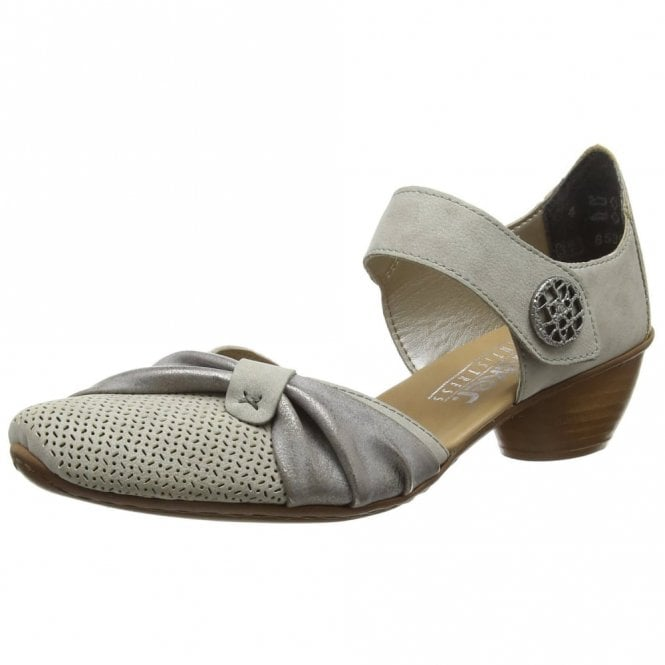 Rieker 43721-41 Grey Synthetic Leather Shoe