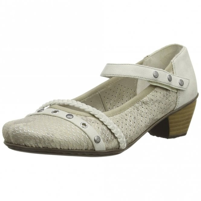 Rieker 41765-64 Beige Combi Synthetic Leather Shoe