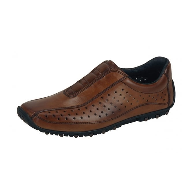Rieker 08979-24 Brown Leather Mens Shoe