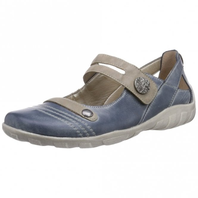Remonte Dorndorf R3418-14 Blue Leather Velcro Shoe