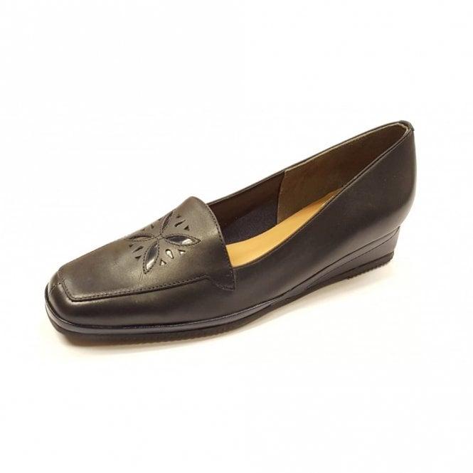 Van Dal Verona IV Marine Navy / Patent Wedge Shoe