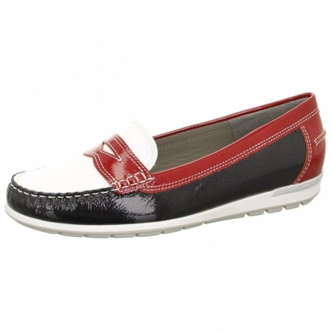 Ara 30859-08 Navy Multi Patent Loafer Shoe