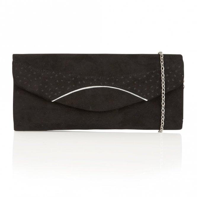 Lotus Hallmark Kendall Black Microfibre Clutch Bag
